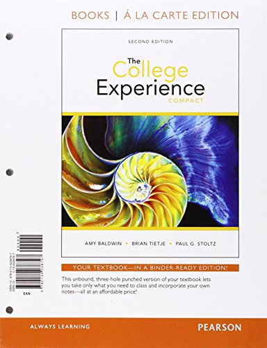 College Experience Compact, The, Student Value Edition Plus New Mylab Student Success with Pearson Etext