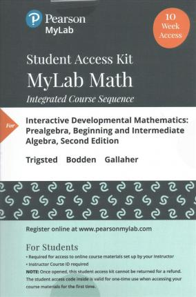 Mylab Math Student Access Kit for Interactive Developmental Mathematics