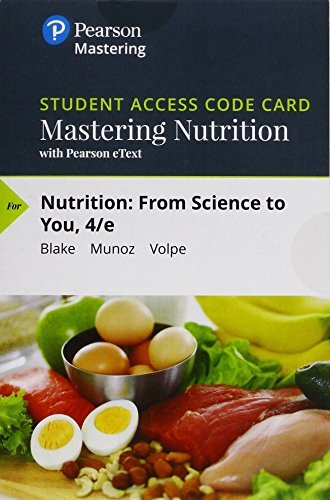 Mastering Nutrition with Mydietanalysis with Pearson Etext -- Standalone Access Card -- For Nutrition