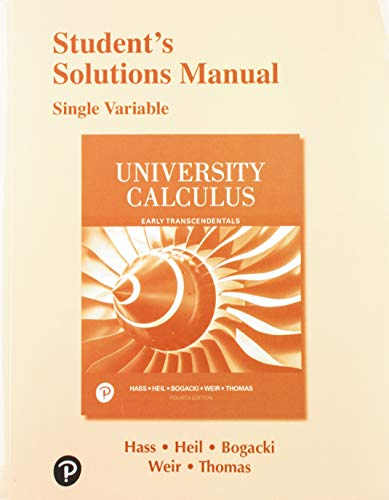 Student Solutions Manual Single Variable for University Calculus