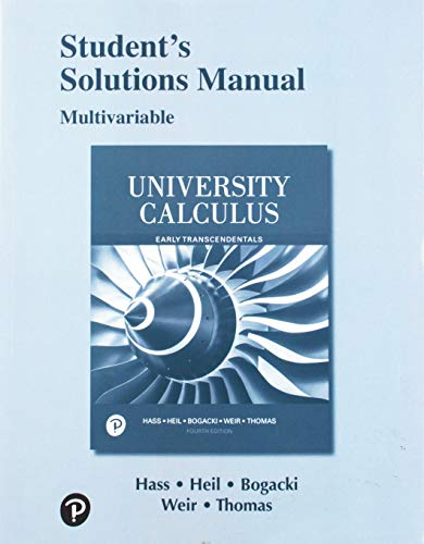 Student Solutions Manual Multivariable for University Calculus, Early Transcendentals