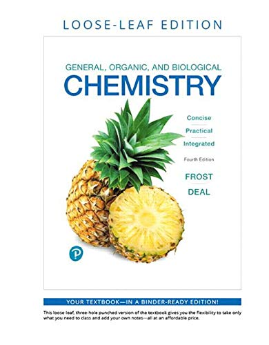 General, Organic, and Biological Chemistry, Loose-Leaf Plus Mastering Chemistry with Pearson Etext -- Access Card Package