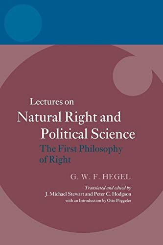 Hegel: Lectures on Natural Right and Political Science