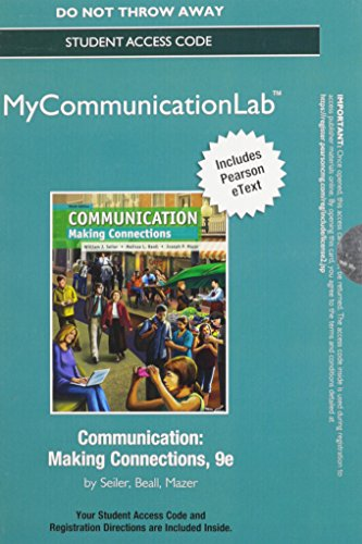 NEW MyLab Communication with Pearson eText -- Standalone Access Card -- for Communication