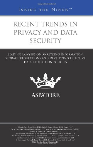 Recent Trends in Privacy and Data Security