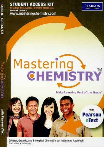 MasteringChemistry with Pearson eText Student Access Kit for General, Organic, and Biological Chemistry