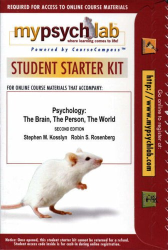 Online Course Pack: Kosslyn Psychology 2e with MyPsychLab 2e