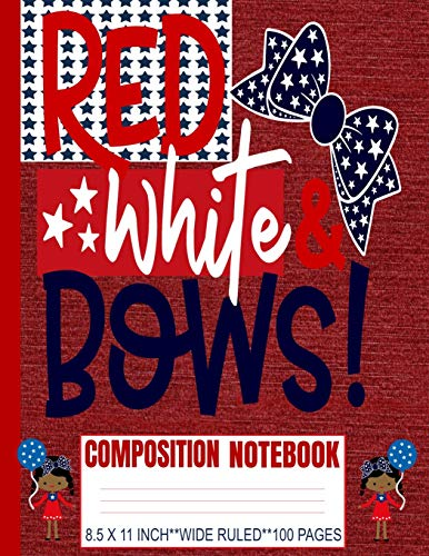 Red White & Bows Composition Notebook