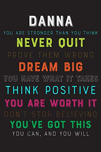 Danna You Are Stronger Than You Think Never Quit Prove Them Wrong Dream Big You Have What It Takes Think Positive You Are Worth It Dont Stop Believing You've Got This You Can And You Will