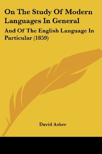 On the Study of Modern Languages in General