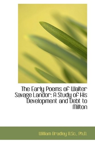 The Early Poems of Walter Savage Landor