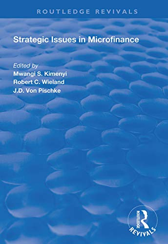 Strategic Issues in Microfinance