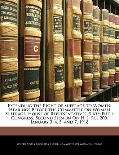 Extending the Right of Suffrage to Women