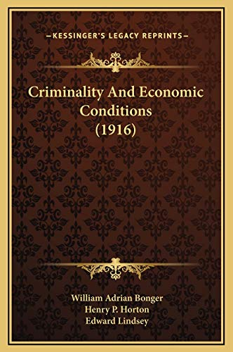 Criminality And Economic Conditions (1916)