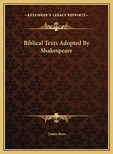 Biblical Texts Adopted By Shakespeare