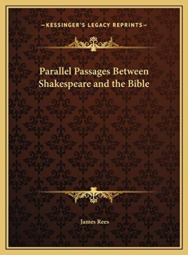 Parallel Passages Between Shakespeare and the Bible