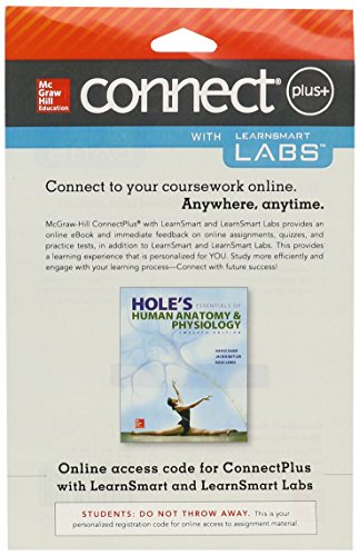 Connect and Learnsmart Labs Access Card for Hole's Essentials of Human Anatomy & Physiology