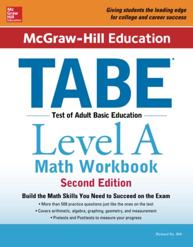 McGraw-Hill Education TABE Level A Math Workbook Second Edition