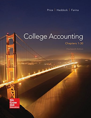 College Accounting ( Chapters 1-30) with Connect+