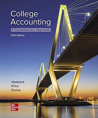 Loose Leaf for College Accounting (a Contemporary Approach)