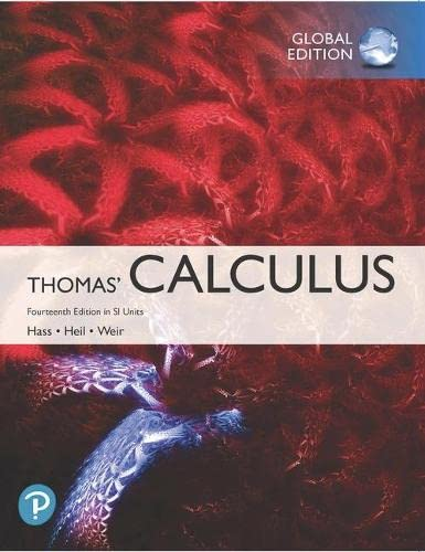 Thomas' Calculus plus Pearson MyLab Mathematics with Pearson eText in SI Units