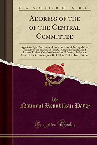 Address of the of the Central Committee