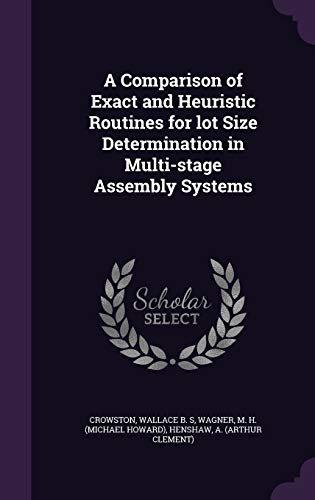 A Comparison of Exact and Heuristic Routines for Lot Size Determination in Multi-Stage Assembly Systems
