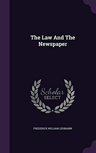 The Law and the Newspaper