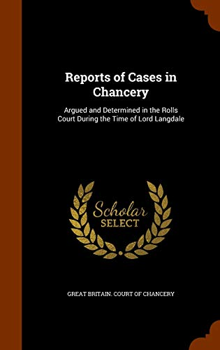 Reports of Cases in Chancery