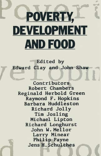 Poverty, Development and Food