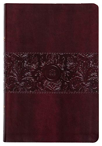 Tpt New Testament with Psalms Proverbs and Song of Songs (Large Print) Burgundy