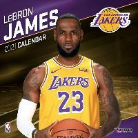 Los Angeles Lakers Lebron James 2021 12x12 Player Wall Calendar
