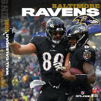 Baltimore Ravens 2021 12x12 Team Wall Calendar