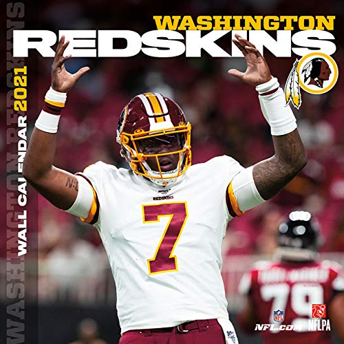 Washington Redskins 2021 12x12 Team Wall Calendar