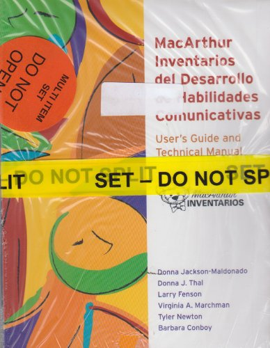 Macarthur Communicative Development Inventories (CDIs) Complete Set of Macarthur Inventarios (User's Guide and Package of 25 of Each Form)