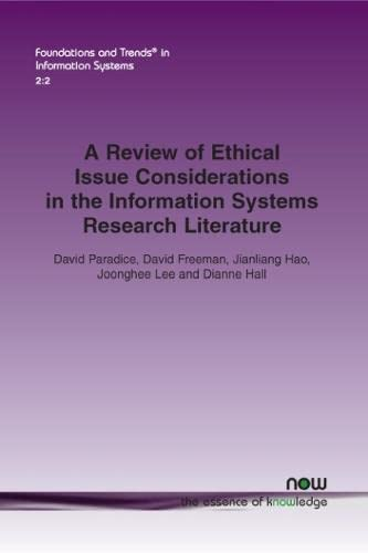 A Review of Ethical Issue Considerations in the Information Systems Research Literature