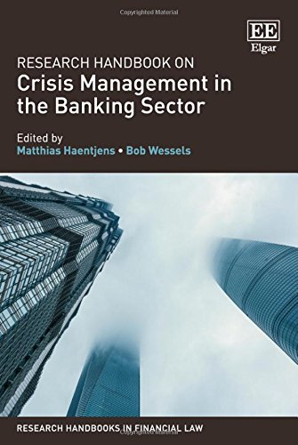 Research Handbook on Crisis Management in the Banking Sector
