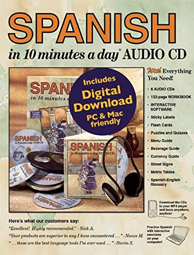 SPANISH in 10 Minutes a Day (R) Audio CD