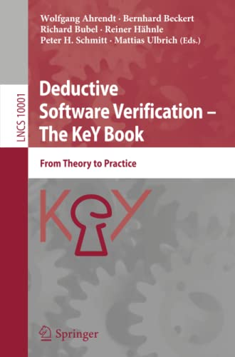 Deductive Software Verification - The KeY Book
