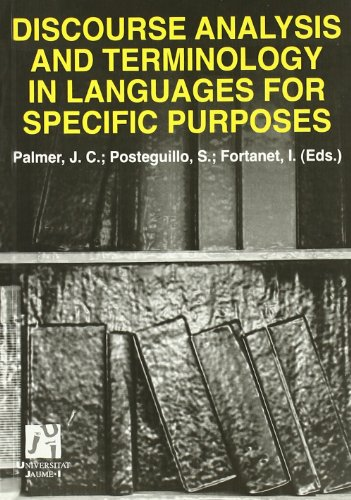 Discourse Analysis and Terminology in Languages for Specific Purposes