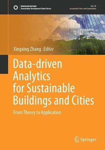 Data-driven Analytics for Sustainable Buildings and Cities