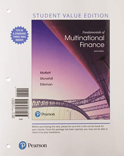 Fundamentals of Multinational Finance, Student Value Edition Plus Mylab Finance with Pearson Etext - Access Card Package