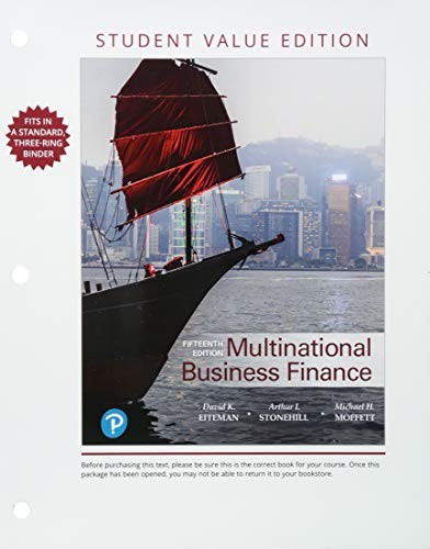 Multinational Business Finance, Student Value Edition
