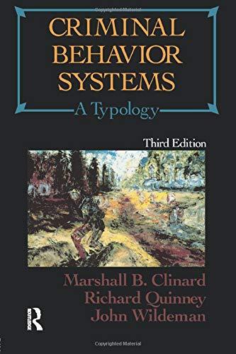 Criminal Behavior Systems : A Typology