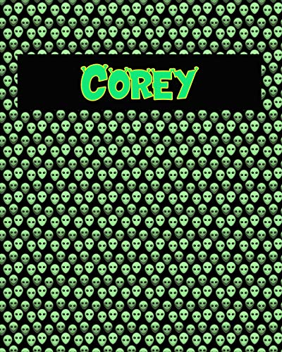 120 Page Handwriting Practice Book with Green Alien Cover Corey : Primary Grades Handwriting Book