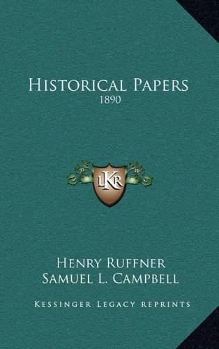 Historical Papers : 1890