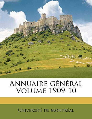 Annuaire General Volume 1909-10
