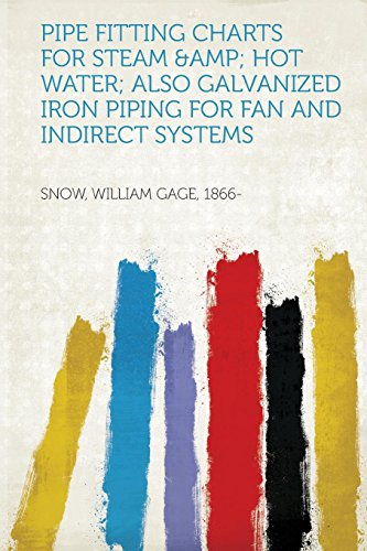Pipe Fitting Charts for Steam & Hot Water; Also Galvanized Iron Piping for Fan and Indirect Systems
