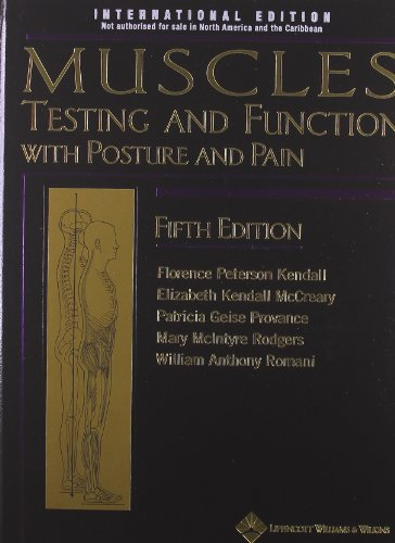 Muscles: Testing and Function, with Posture and Pain. Hardcover