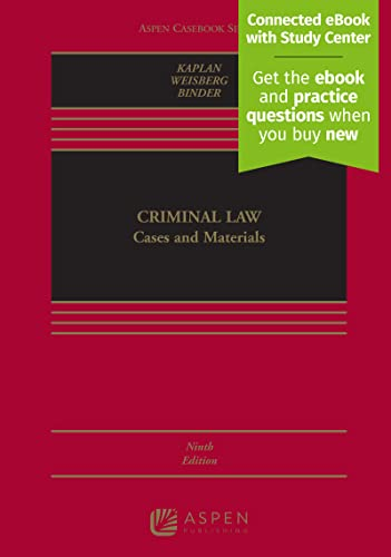 Criminal Law : Cases and Materials